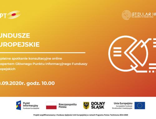 Fundusze Europejskie – spotkania informacyjne online