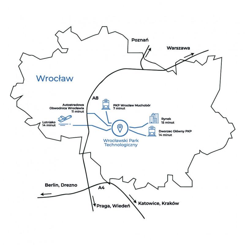 Mapa WPT we Wrocławiu