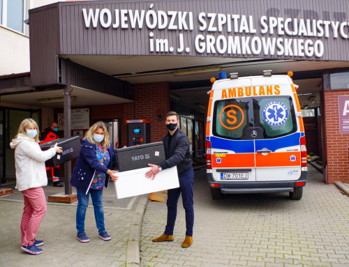 All hands on deck! We support the doctors from the hospital on Koszarowa Street
