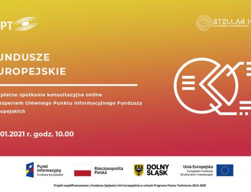 Fundusze Europejskie – cotygodniowe spotkania informacyjne online
