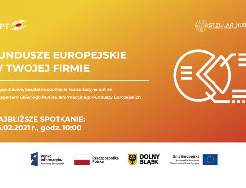 Fundusze Europejskie w Twojej firmie – spotkanie online już 3 lutego!