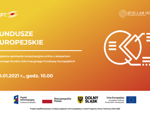 Fundusze Europejskie – kolejne spotkanie online już 20 stycznia!