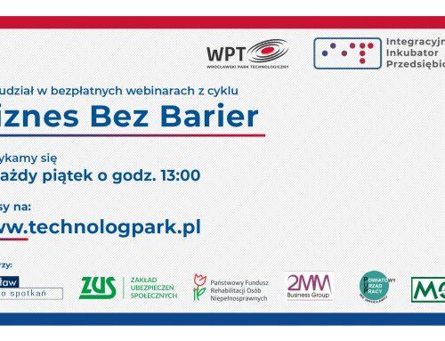 """Bezpłatne webinary """"Biznes bez barier"""""""