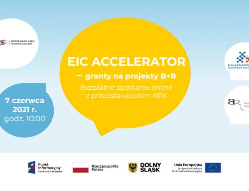 Spotkanie EIC Accelerator: granty na projekty B+R