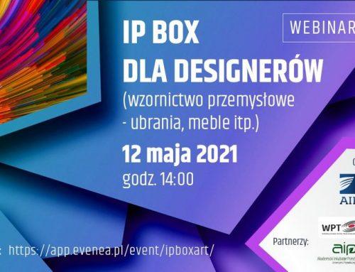 Zapraszamy na webinar IP BOX dla designerów!