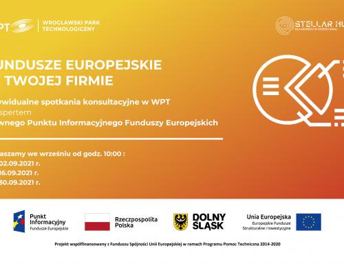 Fundusze Europejskie w Twojej firmie – bezpłatne konsultacje w WPT