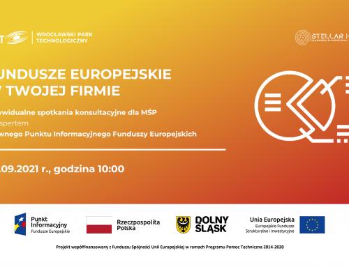 Fundusze Europejskie w Twojej firmie – bezpłatne konsultacje w WPT już 30 września!